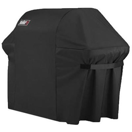 Weber Summit 600 Series Black Grill Cover 100% Flexible Polyester Fabric
