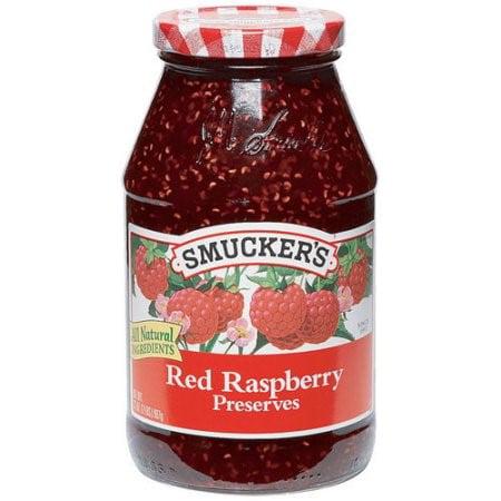 Smucker's Red Raspberry Preserves, 32
