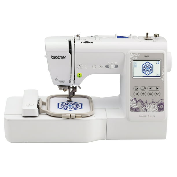 "Brother SE600 Combination Computerized Sewing and Embroidery Machine with Color LCD display, 80 Embroidery Designs and 4""x4"" Field"