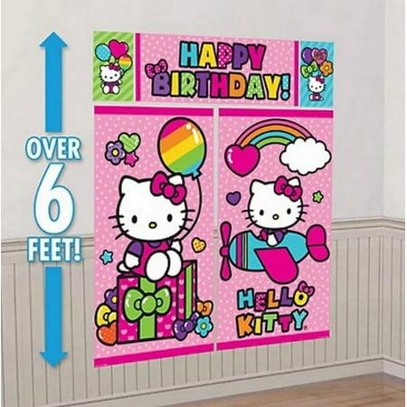 Hello Kitty Rainbow Scene Setter Wall Decorating Kit - 670369