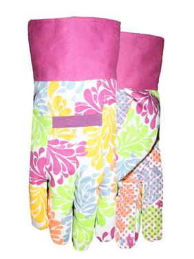 Expert Gardener Women's Medium Canvas Dot Gloves