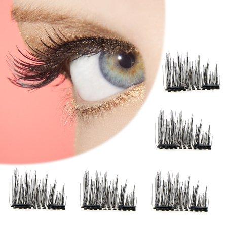 Fashion Magnetic Lashes Reusable 3D False Eyelashes Tweezers Set Eyelashes No Glue Needed Cosmetics Eye Decoration Magnet Eyelashes