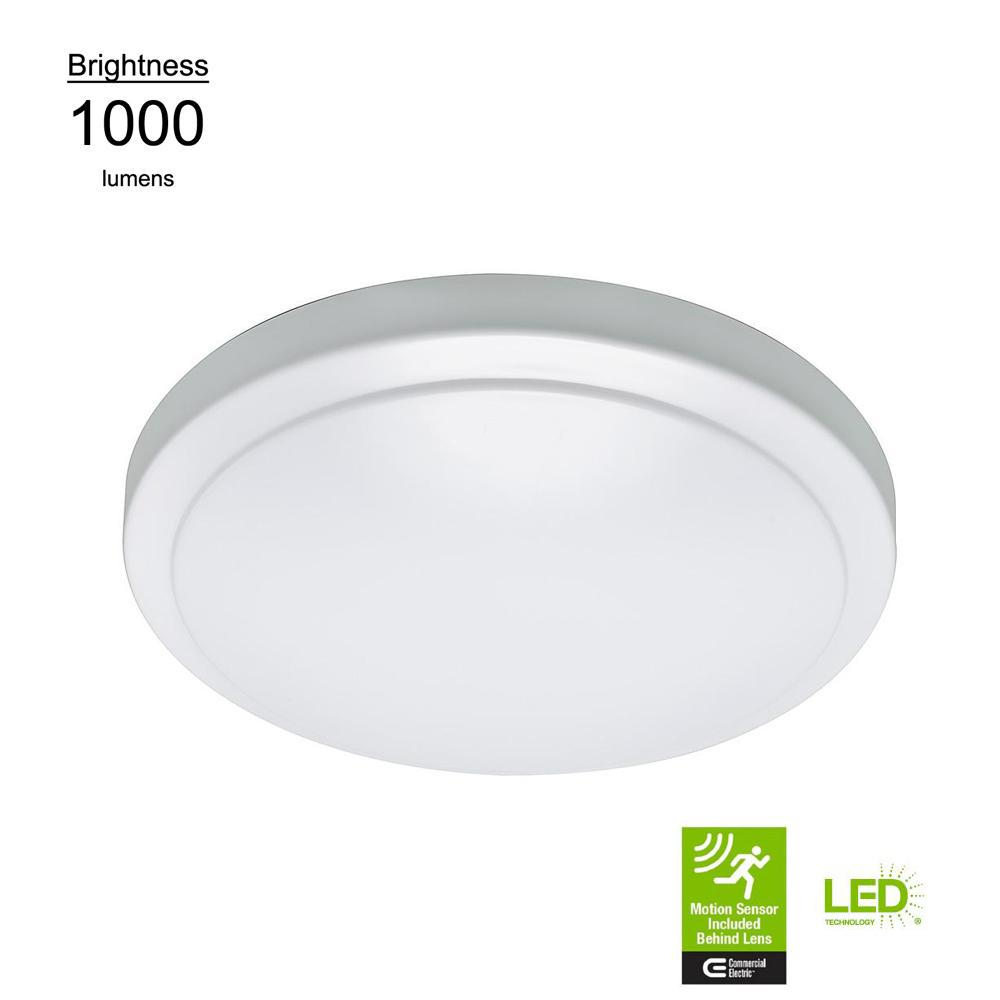 12 In Led Flush Mount Ceiling Light With Adjustable Motion Sensor 1000 Lumens 4000k Bright White Dimmable 4 Pack Walmart Com Walmart Com