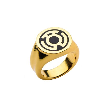 DC Comics The Green Lantern Sinestro Gold Stainless Steel Ring | 8 ()