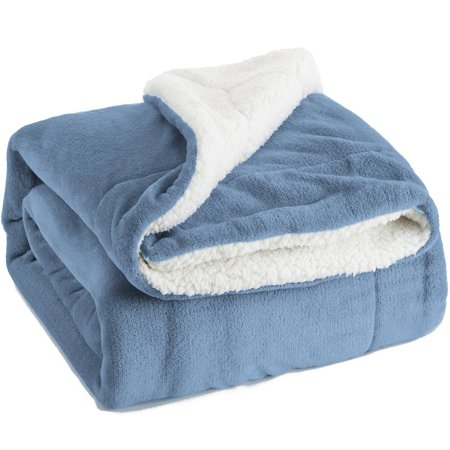 Bedsure Plush Sherpa Throw Blanket Reversible Fuzzy Bed Blankets