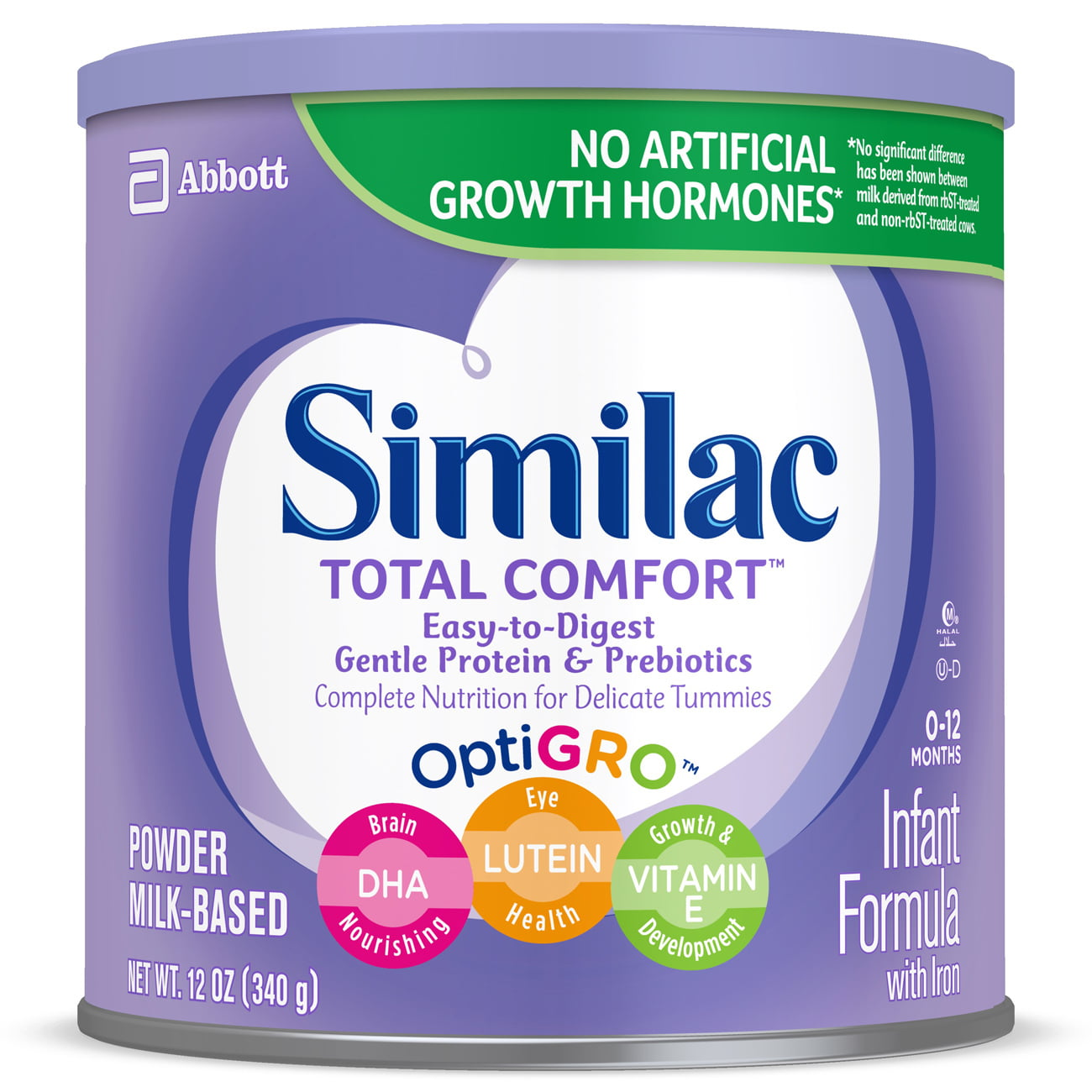 Similac Total Comfort Infant Formula with Iron Easy to Digest Baby Formula 12 oz Cans (Pack of 6) by Similac