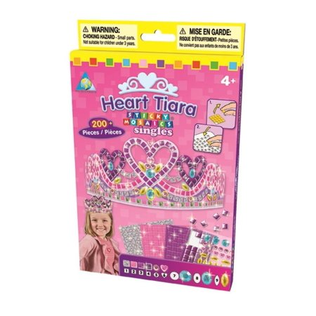 Sticky Mosaics Heart Tiara Kit, Heart Jewelry Twinkle Glow 4M STicky Pack Mosaic Space Fancy Mosaics Box develop Flip imagination 2 Kit Trinket helps Orb Sticky Toy.., By The Orb Factory