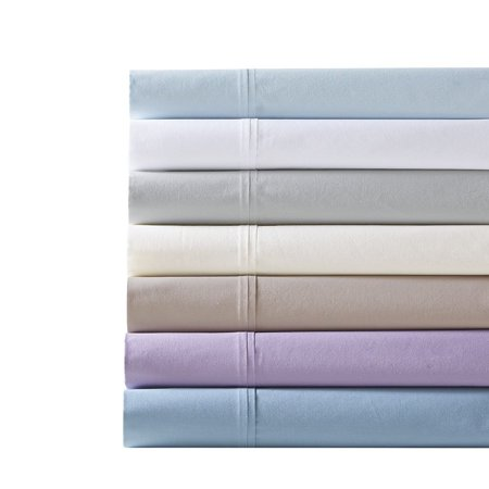 Madison Park Peached 100% Percale Cotton Breathable Absorbent Ultra Soft Luxury Premium Hotel Sheet Set Bedding, King Size, Aqua 4 (Hotel By Park Avenue Bijoux Bedding Coordinates)