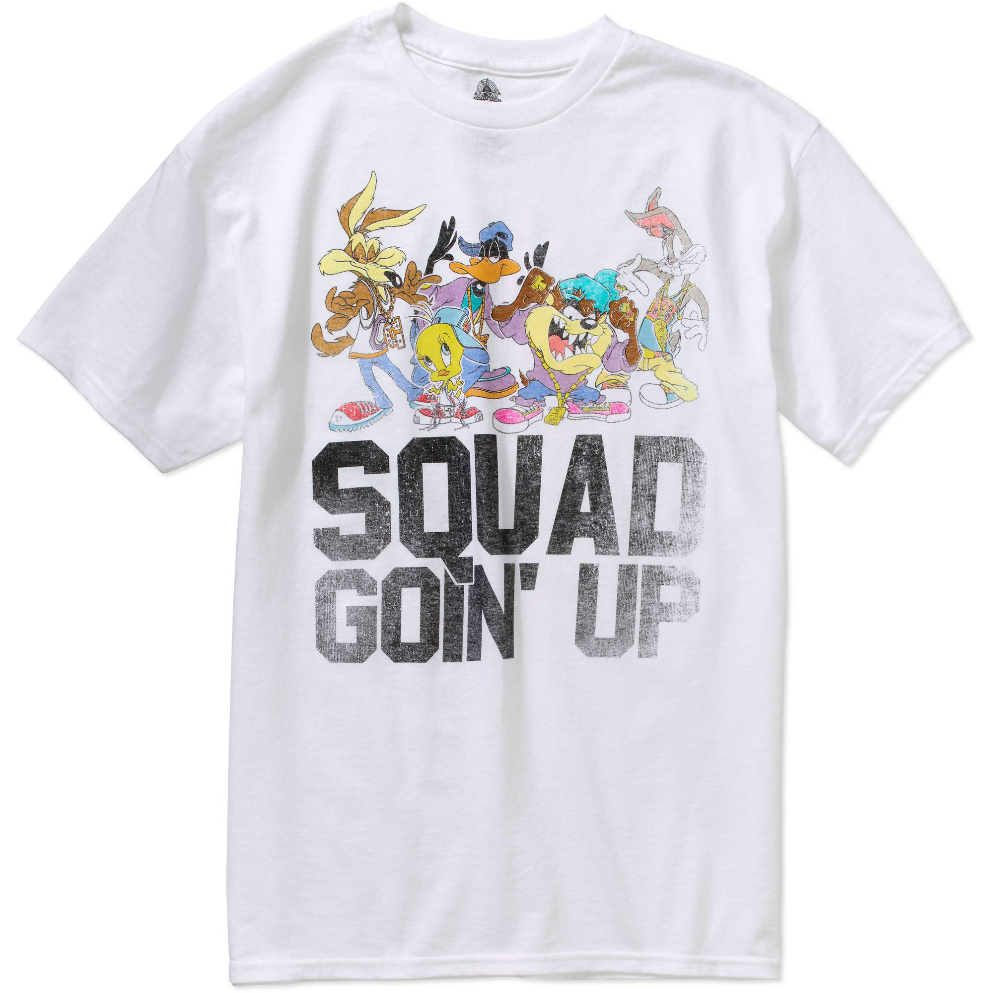 Warner Brothers Squad Going Up  Men's Short Sleeve Graphic  Tee