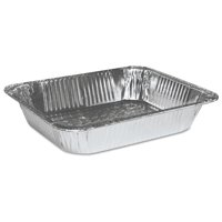 Boardwalk Half-Size Steam Table Deep Aluminum Pans, 100 count -BWKSTEAMHFDP