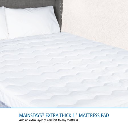 Mainstays Extra Thick Mattress Pad 10 oz fill in Multiple Sizes