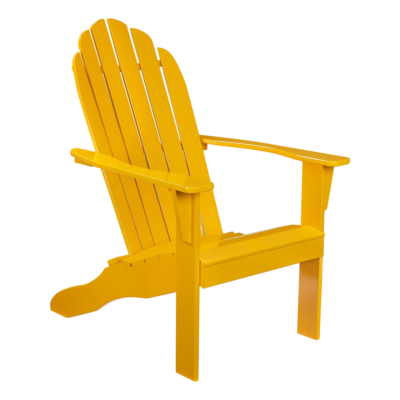 Mainstays Outdoor Wood Adirondack Chair Yellow Walmart Com