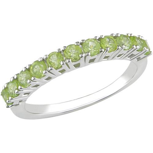 7/8 Carat T.G.W. Peridot Fashion Ring in Sterling Silver