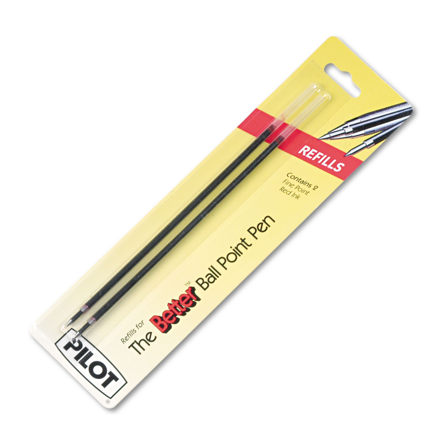 Pilot Bps Easy Touch Ballpoint Pen Refill - 0.70 Mm - Fine Point - Red - 2 / Pack (77217)