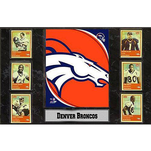 NFL Denver Broncos 6-Card Plaque, 13x20