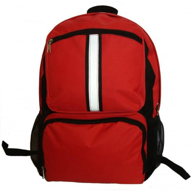 K-Cliffs 18 in. Backpack With Safety Reflective Stripe - Red