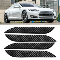 FAGINEY Outer Door Handle Cover, Car Exterior Door Handle Cover,Car Carbon Fiber Exterior Door Handle Cover Sticker Trim Fit for Tesla Model S 2014-2018