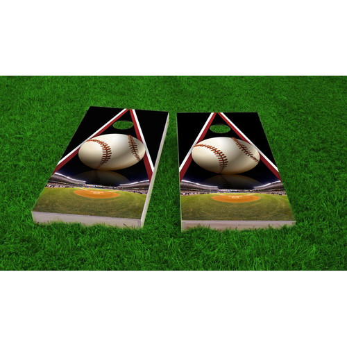 Custom Cornhole Boards Baseball Light Weight Cornhole Game Set by Custom Cornhole Boards
