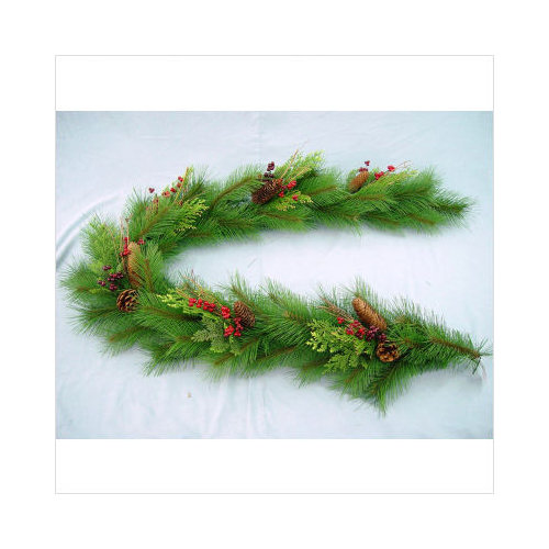 Bundle-67 Regency International 6' Berry Cedar Hemlock Christmas Garland (Set of 4)
