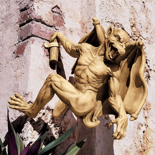 Gaston the Climbing Gothic Gargoyle Statue