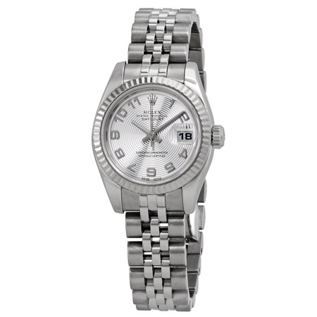 Pre-owned Rolex Lady Datejust 26 Silver Dial Stainless Steel Jubilee Bracelet Automatic Watch