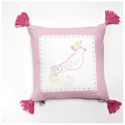 Whistle and Wink Princess Cotton Throw Pillow