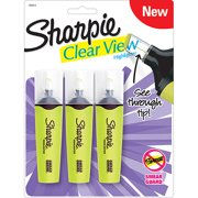Sharpie Clear View Highlighters, 3-Pack, Yellow