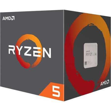 AMD Ryzen 5 1600 Processor 3 6 GHz 6-Core AM4 Processor with Wraith Spire  Cooler - YD1600BBAEBOX