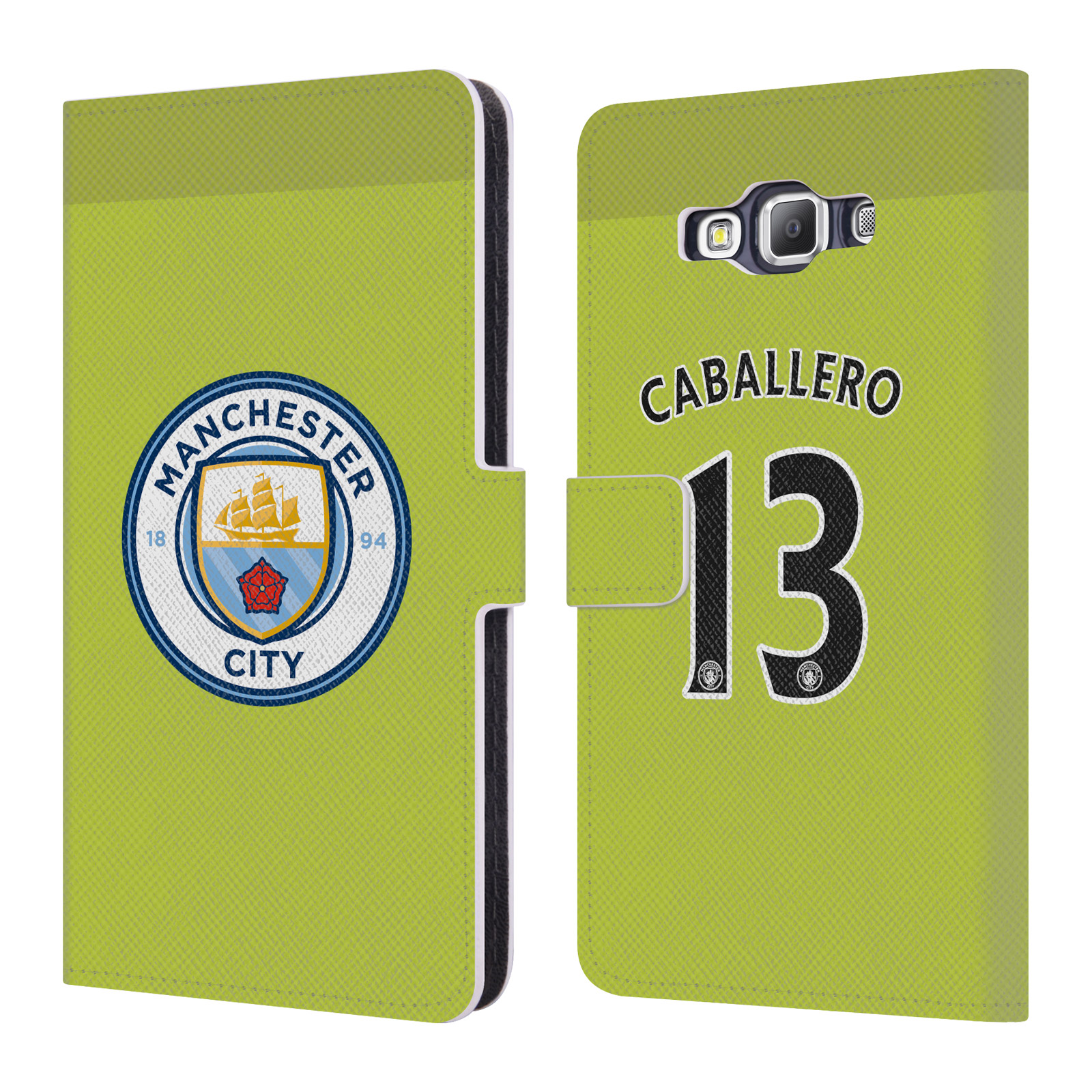 OFFICIAL MANCHESTER CITY MAN CITY FC PLAYER HOME KIT 2016/17 GROUP 1 LEATHER BOOK WALLET CASE COVER FOR SAMSUNG PHONES 2