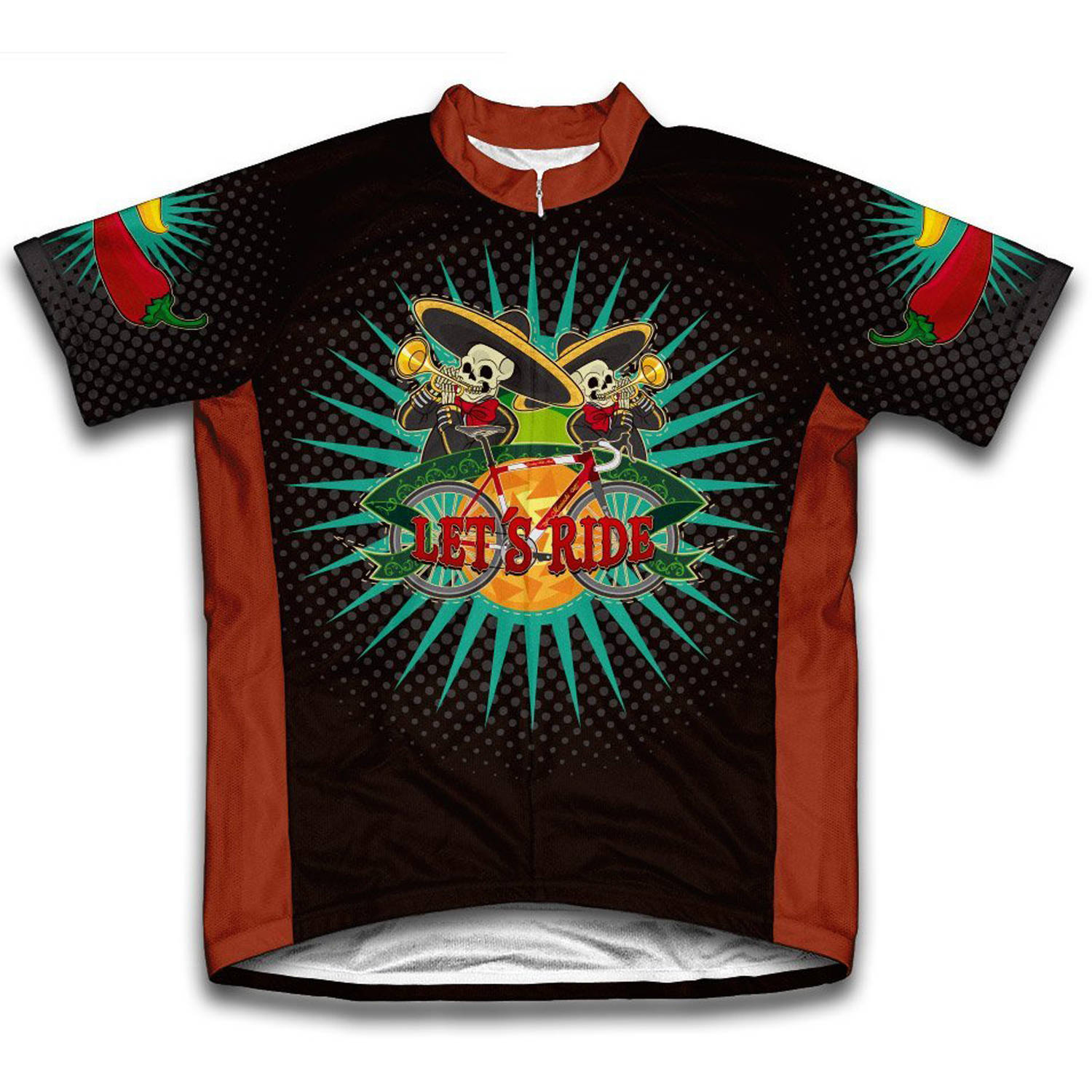Mariachi Microfiber Short-Sleeved Cycling Jersey, Assorted Sizes