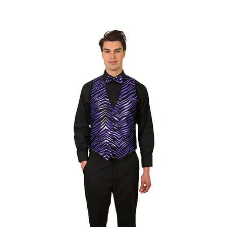 Men's Zebra Print Vest