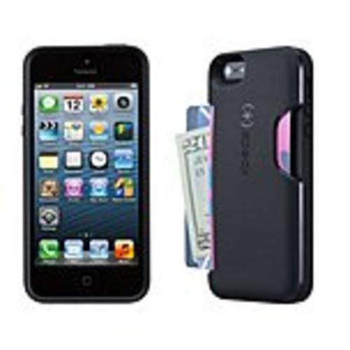 Speck SmartFlex Card - Protective case for cell phone - polymer - black - for Apple iPhone 5