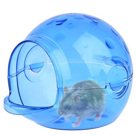 Chinchilla Bath - Petacc Cute Hamster Sand Room Eco-friendly Hamster Bathroom House Harmless Chinchilla Bath House, Suitable for Hamsters, Blue