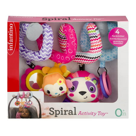 Infantino Spiral Activity Toy, 1.0 CT (Car Seat Toys Organic)