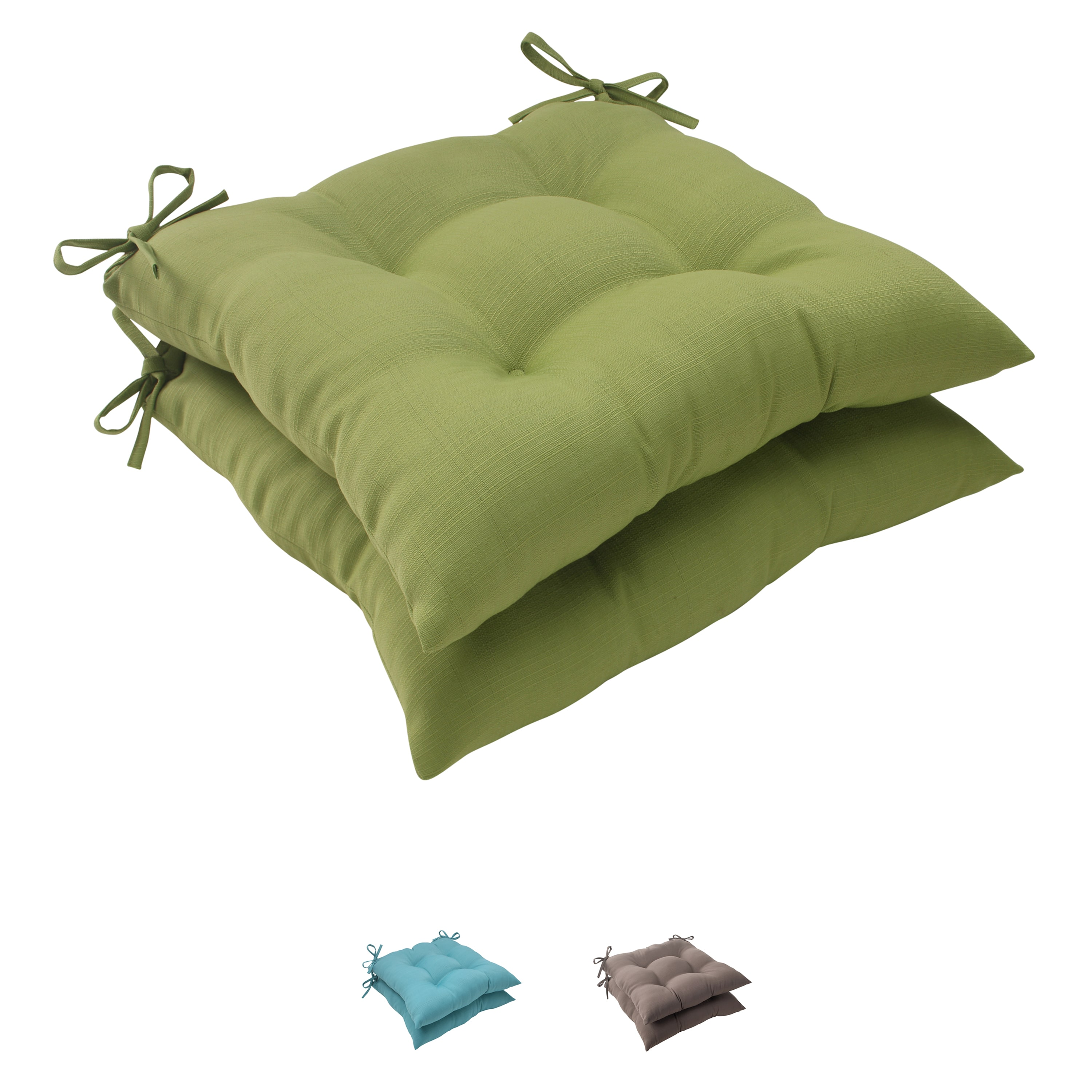 Pillow Perfect  Outdoor Forsyth Tufted Seat Cushion (Set of 2)