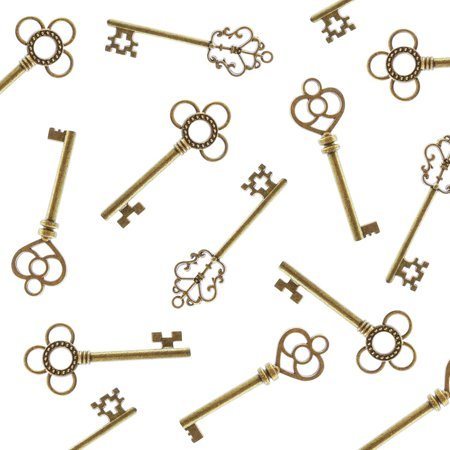 Antique Style Bronze Brass Keys (30 Pieces) Super Z Outlet