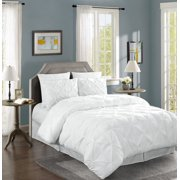Chezmoi Collection Berlin 3-Piece Pinch Pleated Pintuck Comforter Set