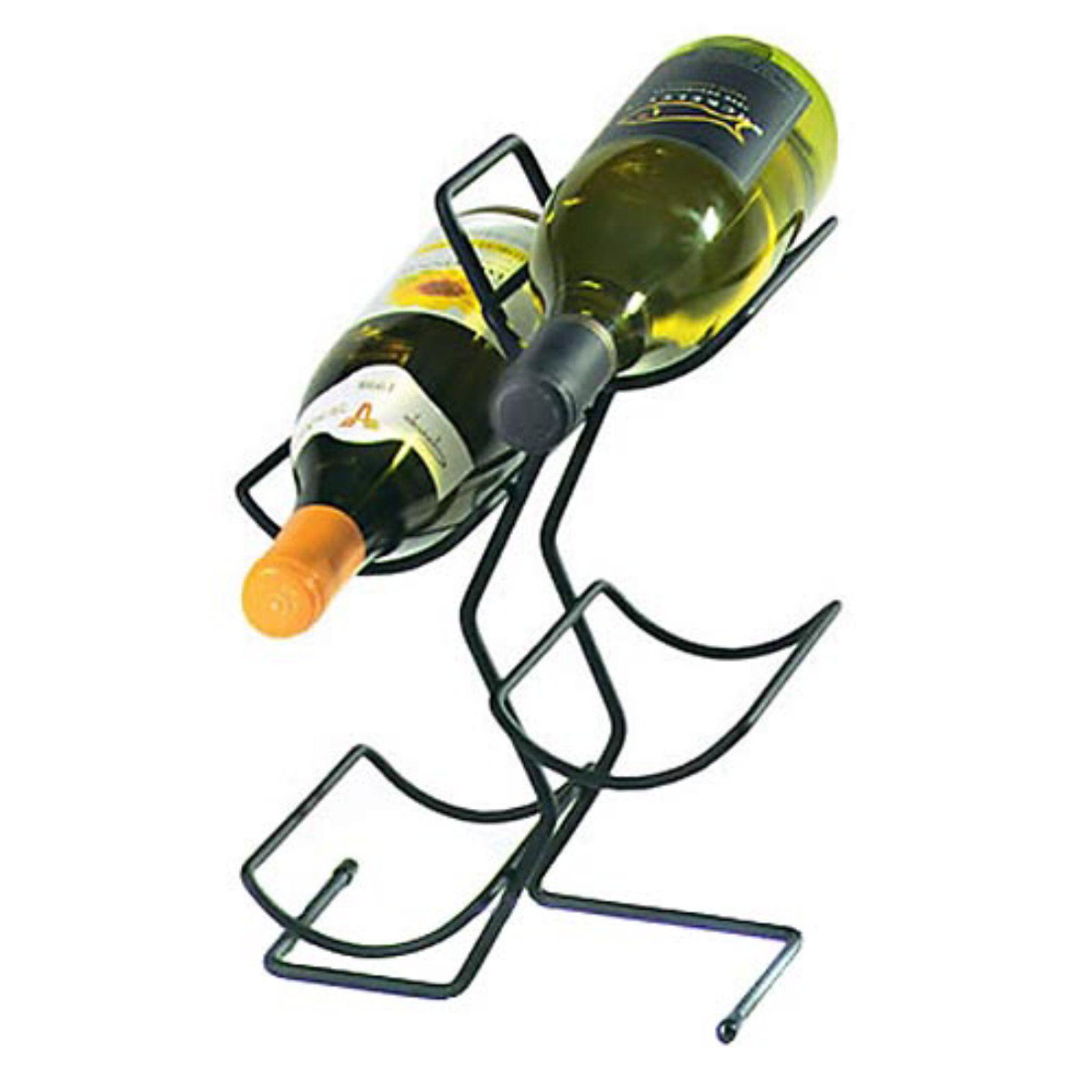 Wine Tree 4-Bottle Wine Rack Black by Spectrum