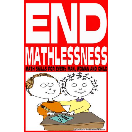 Youth Change Poster #360 Sweet Cartoon Math Class Motivation Poster Ends -