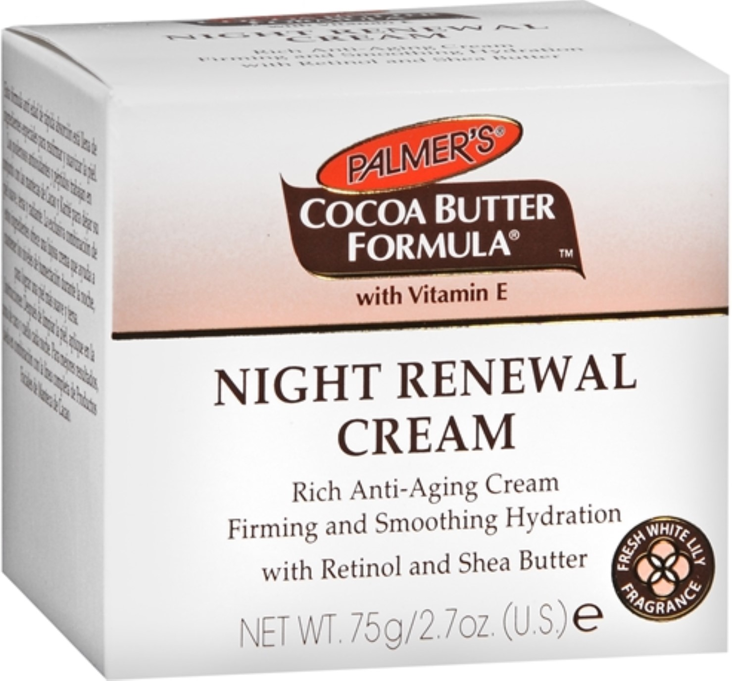 Palmer's Cocoa Butter Formula Fresh White Lily Night Renewal Cream, 2.7 oz