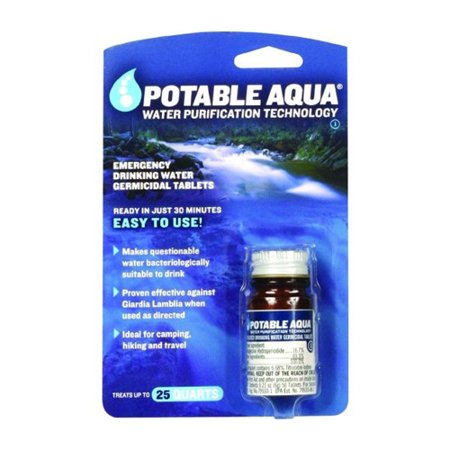 Potable Aqua Water Treatment Tablets - 50 (Steripen Water Purification)