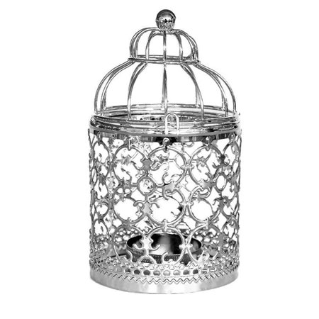 Hanging Hollow Out Iron Birdcage Candlestick Table Candle Holder Parties Wedding