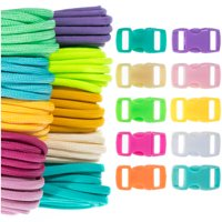 "Craft County Kids 550 Paracord Crafting DIY Kits - 100 Feet of Paracord & 10 3/8"" Buckles - Ideal for Arts & Crafts, Bracelets, Keychains, Lanyards"