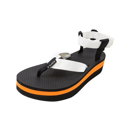 c5af37096d9 Teva Women s Flatform Sandal White   Orange Ankle-High - 9M - image 4 ...
