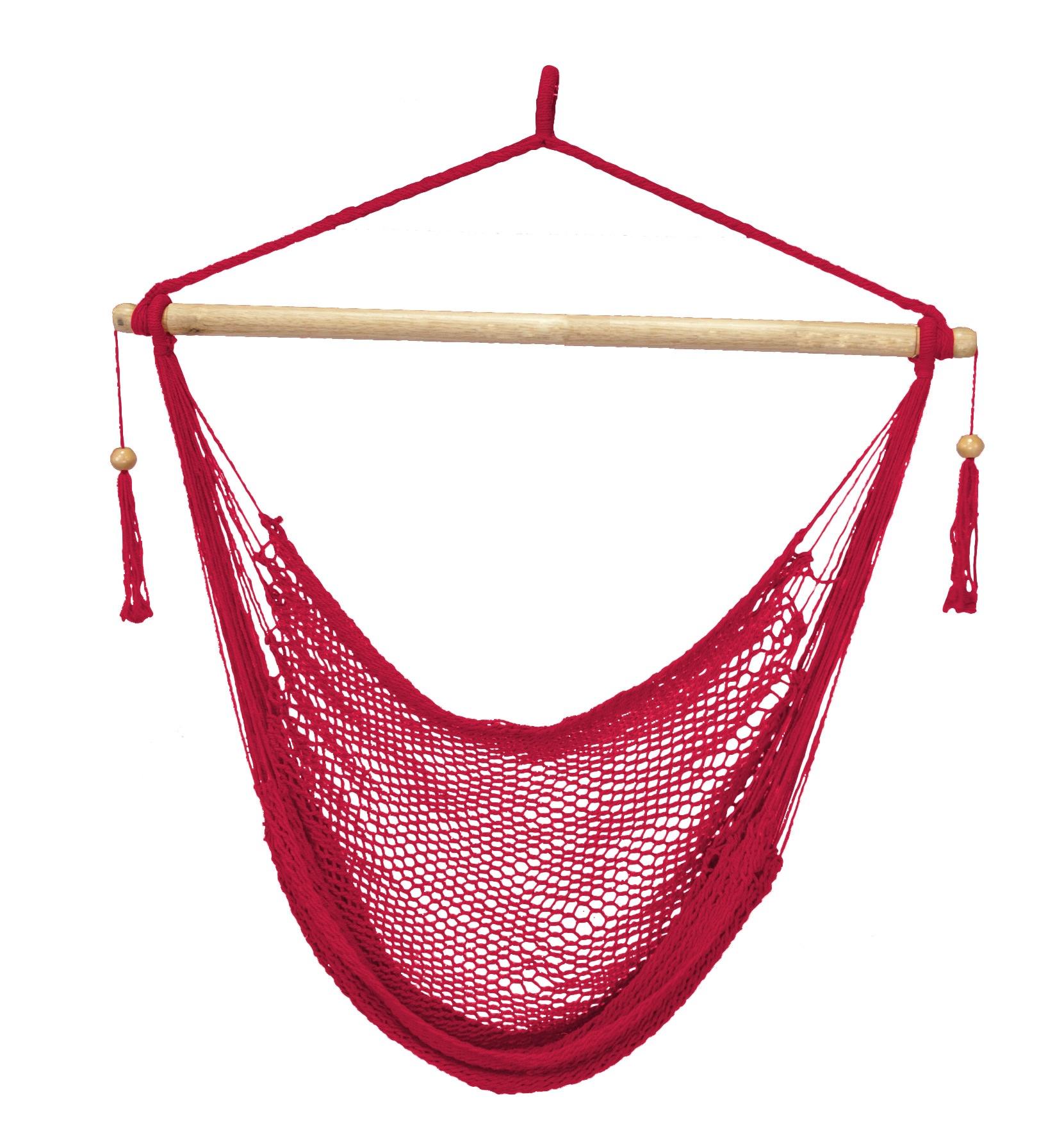 Island Paradise Rope Hammock Chair - Red