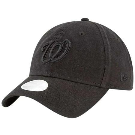 Washington Nationals New Era Women s 9TWENTY Core Classic Twill Adjustable  Hat - Black - OSFA - Walmart.com a983a5197013