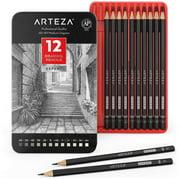 Arteza Professional Graphite Drawing Pencils - 12 Pack (ARTZ-8106)