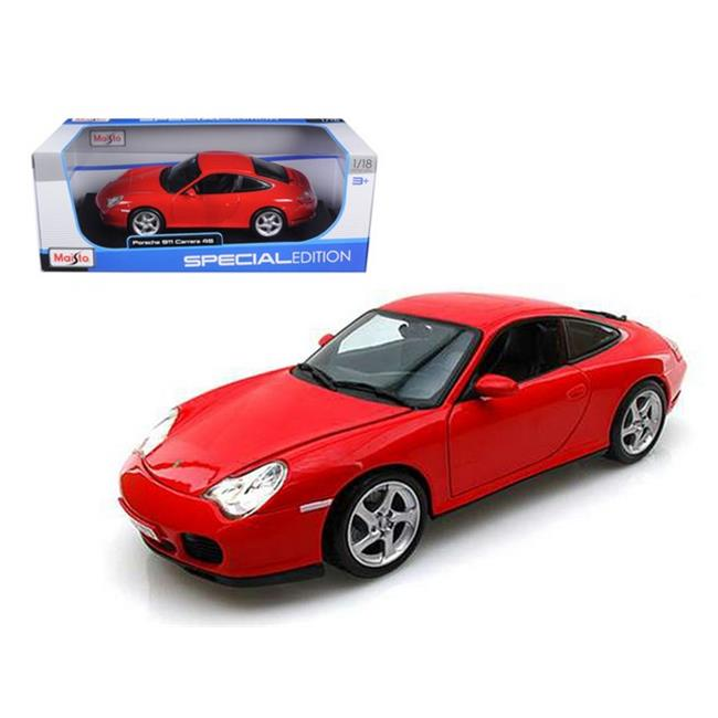 Maisto 31628r Porsche Carrera 4S Red 1-18 Diecast Car Model - image 1 de 1