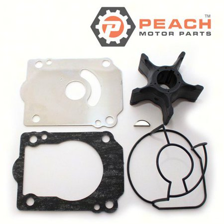 - Peach Motor Parts PM-17400-93J02  PM-17400-93J02 Water Pump Repair Kit; Replaces Suzuki®: 17400-93J02, 17400-93J01, 17400-93J00, Johnson® Evinrude® OMC®: 5035036, Sierra®: 18-3264