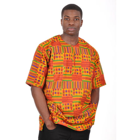 African Print Kente Dashiki Shirt